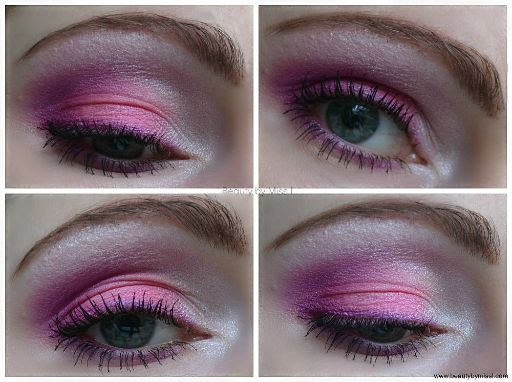 pink & purple smokey eye makeup