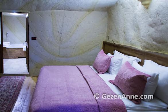 Fresco Cave Suits otelin mağara odası, Kapadokya