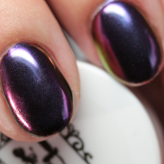 Girly Bits Cosmetics SFX Multi-Chrome Powder Alchemy over black gel
