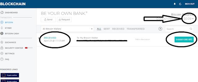 اثبات سحب أداة تعدين البيتكوين getcryptotab السحب الأول Payment proof