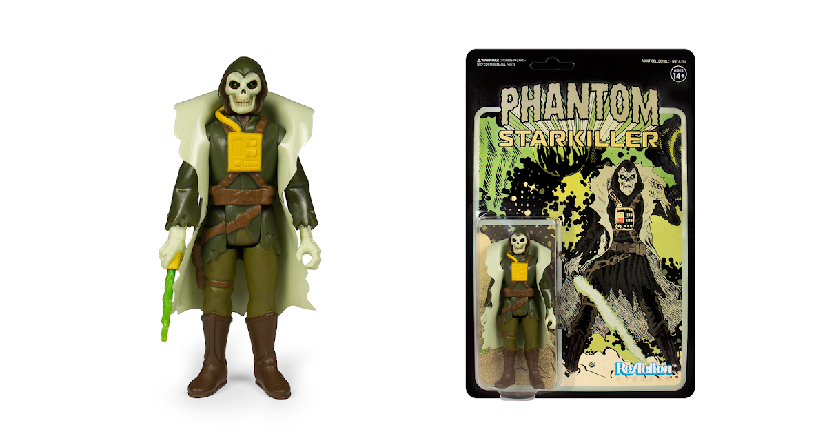 Super7 Killer Bootlegs Phantom Starkiller Grey Ghoul Reaction Figure SDCC 2019
