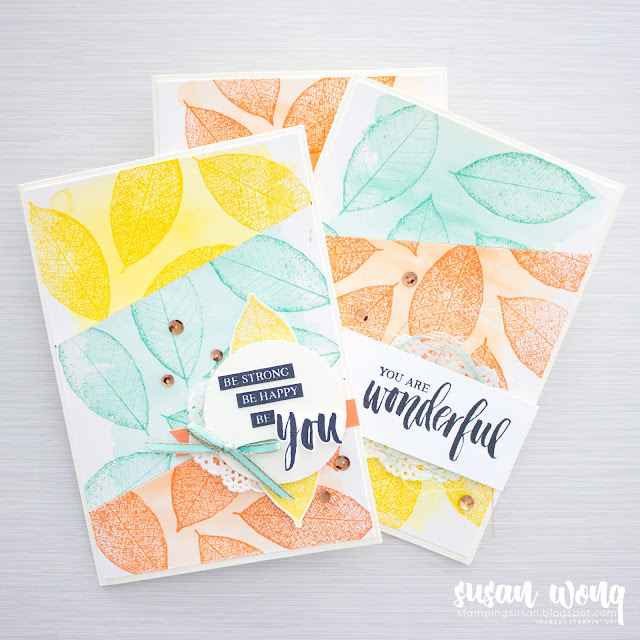 Set for Rooted In Nature by Stampin' Up! Card Class - Stamping Susan Wong