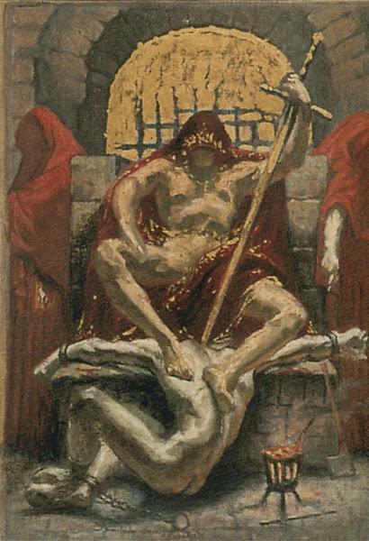 La justice d'autrefois by Jean Delville, Macabre Art, Macabre Paintings, Horror Paintings, Freak Art, Freak Paintings, Horror Picture, Terror Pictures