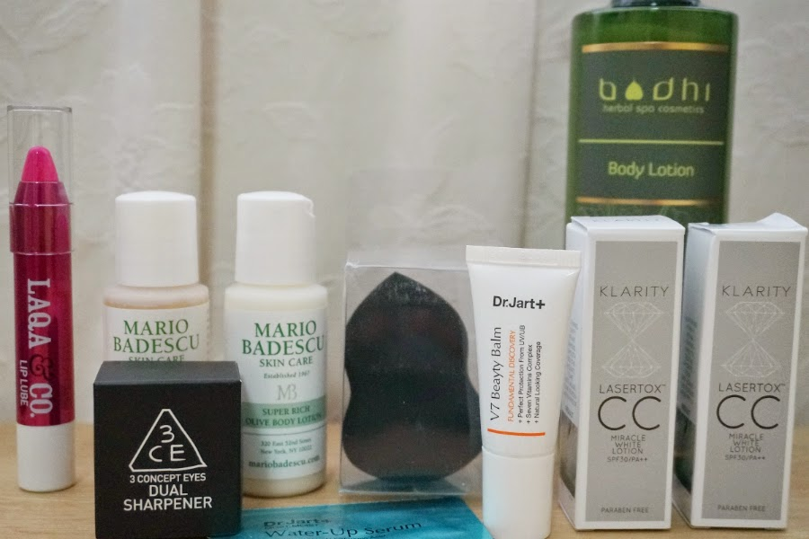 Mini Haul: Bodhi Body Lotion, 3CE Dual Sharpener, Lots of Samples from Luxola.com