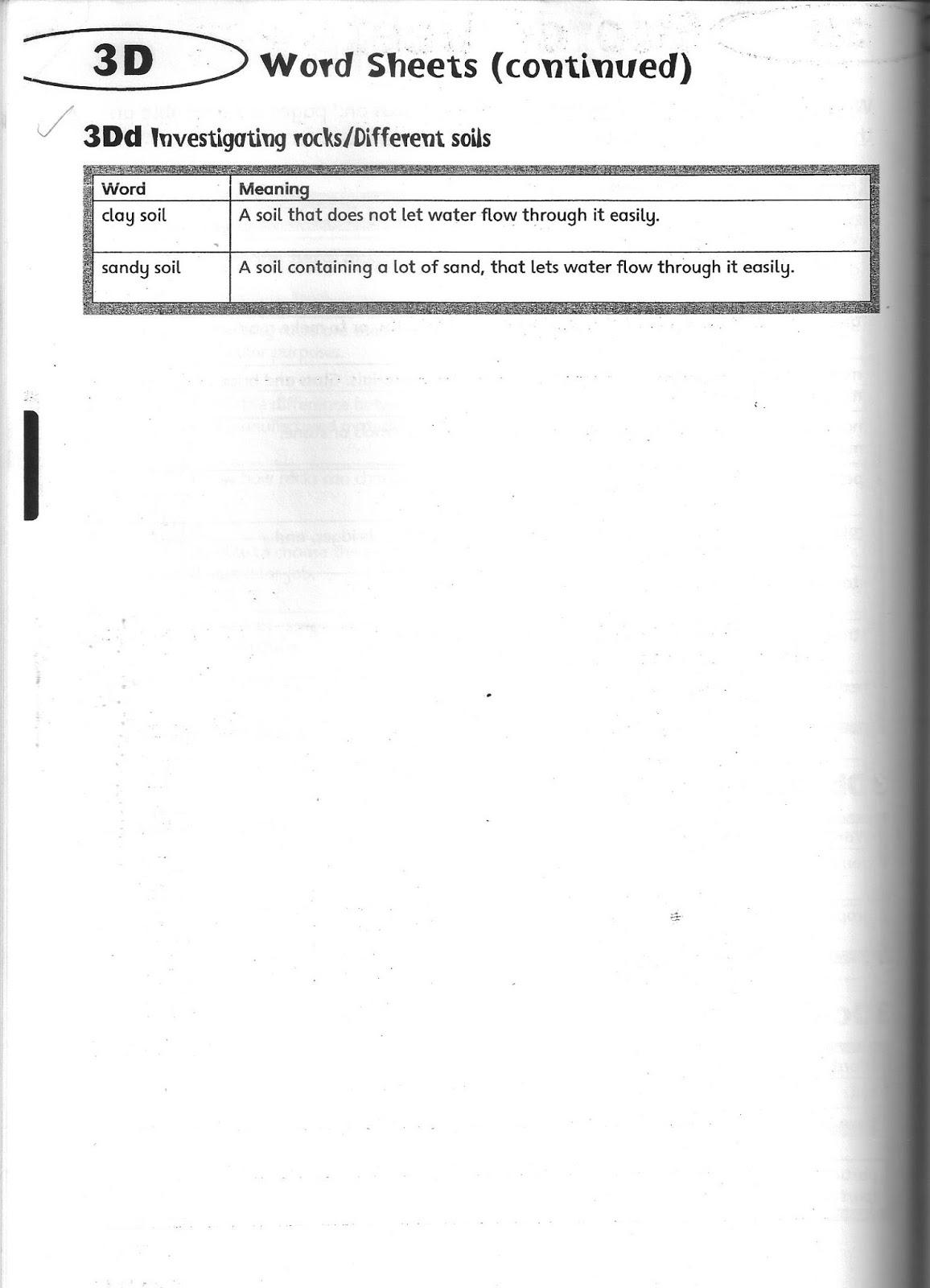 The City School Grade 3 Science Reinforcement Worksheets