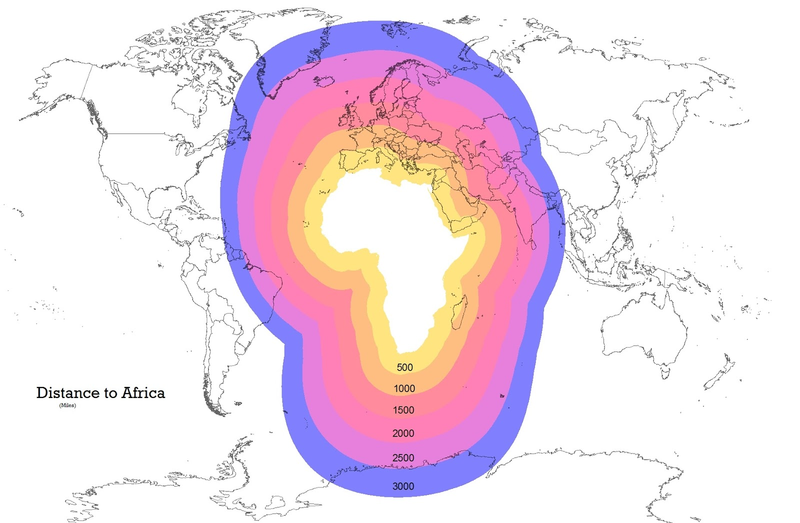 Distance to Africa