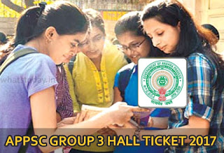 APPSC Group 3 Hall Ticket 2017, APPSC Group 3 Panchayat Secretary Admit Card 2017