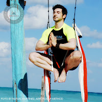 AEROYOGA® (AERIAL YOGA BY RAFAEL MARTINEZ)  IN THE AEROYOGA® OFFICIAL SWING PIC BY RAFAEL MARTINEZ