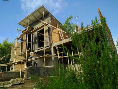 Rumah tipe 46 di Exotic Panderman Hill terus dibangun dan hampir diselesaikan.