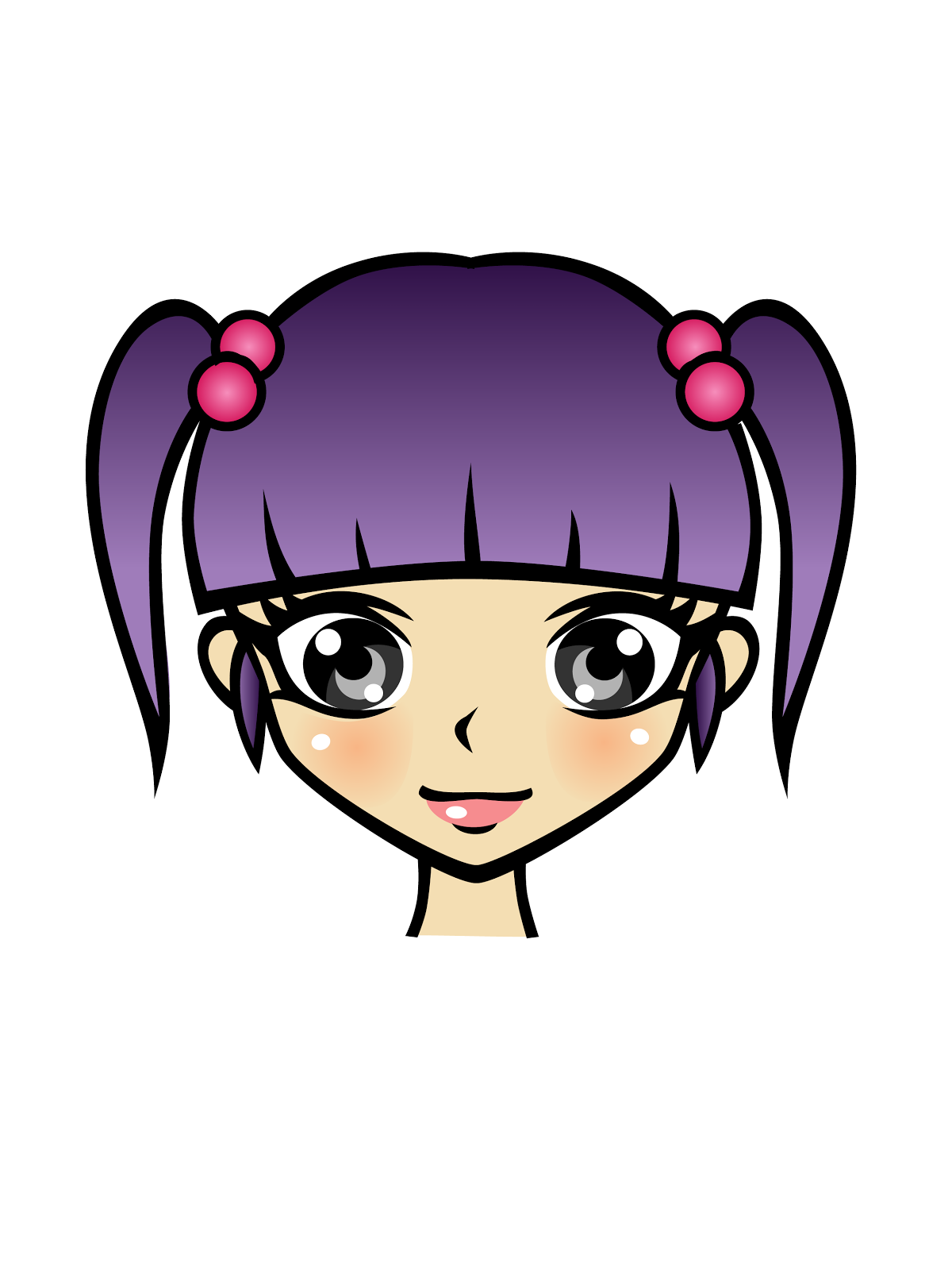 Cute Clipart 20 Free High Resolution Cute Manga Girls -9100