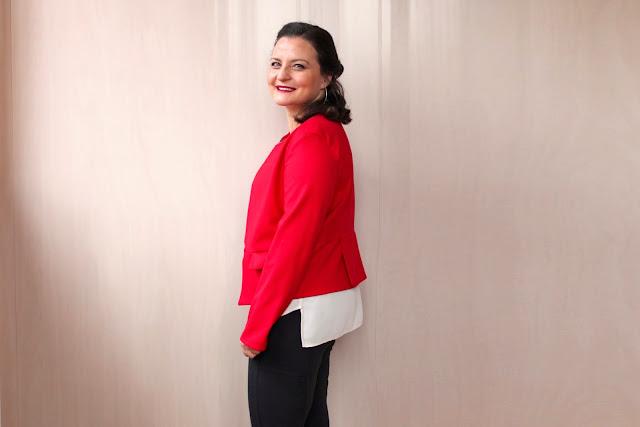 ceket detay, kırmızı, baharlık, kendin yap, evde dikiş