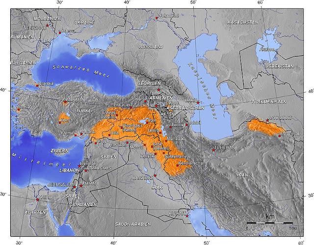 kürdistan haritası