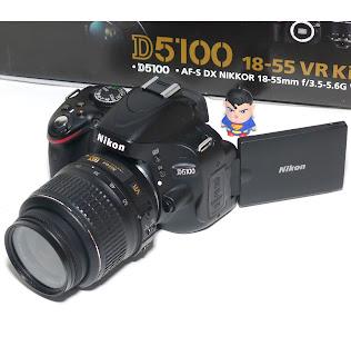 Kamera Nikon D5100 Second Fullset di Malang