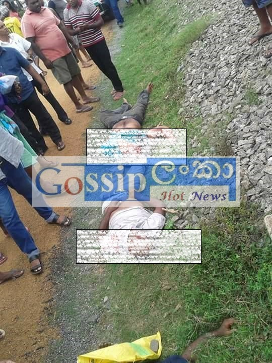 Train Accident in Pothupitiya, Wadduwa.