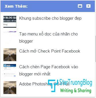 Bài viết liên quan ẩn hiện khi cuộn chuột cho blogspot
