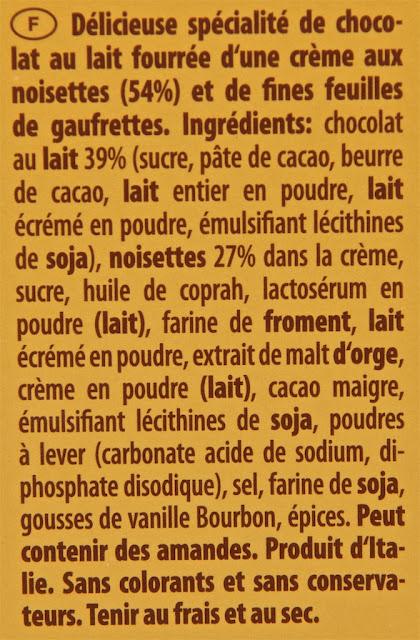 Tortina Original Loacker - waffer - italy - dessert - milk chocolate - hazelnut - chocolat au lait - gaufrette