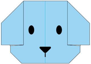 Bước 10: Vẽ mắt mũi để hoàn thành gấp cái ví đựng tiền hình con chó bằng giấy
