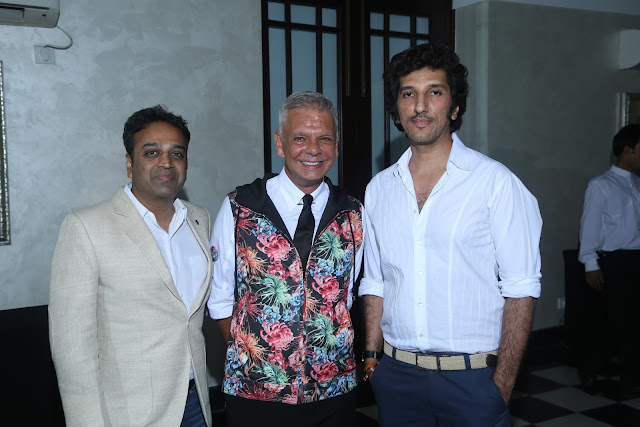 Nalim Gupta (Left), Designer Hemant Sagar (Middle) with a guest