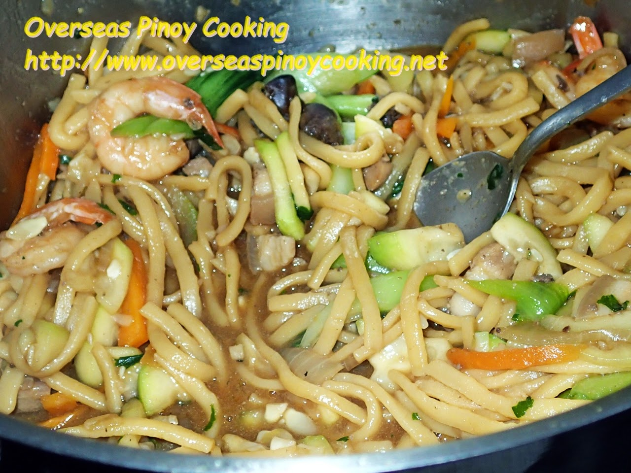 Pansit Miki with Upo - Cooking Procedure