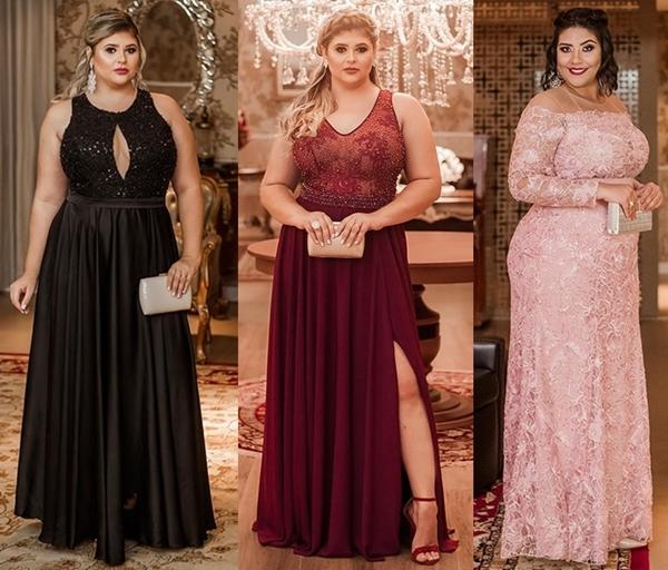 Vestido de festa plus size  10 modelos para usar em 2019 - Madrinhas ... 41b9e9f9f869