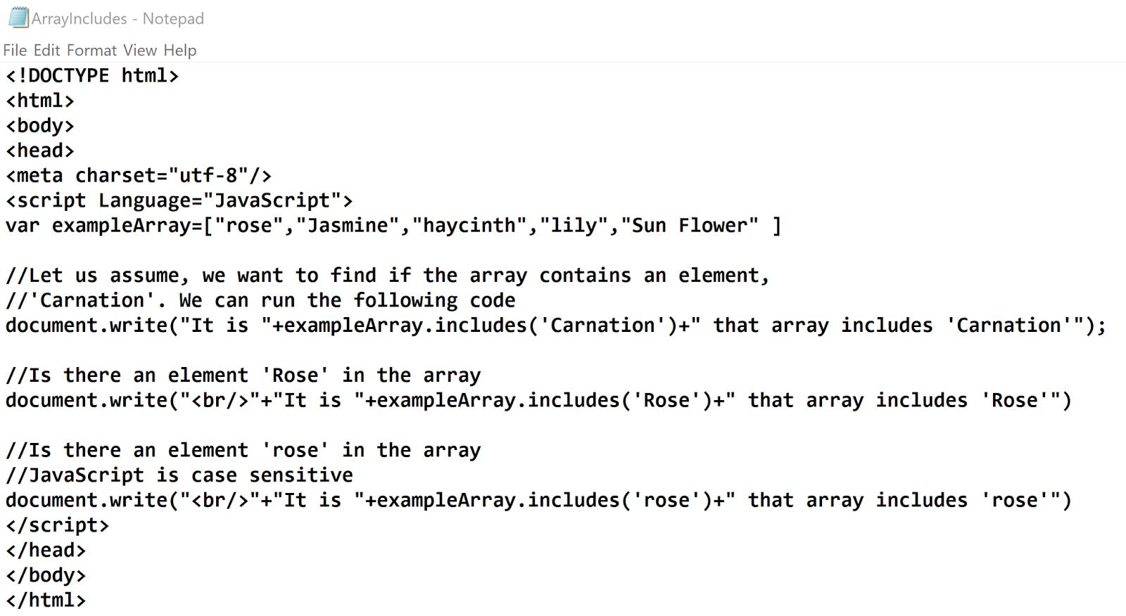 Hodentek Finding An Element In A Javascript Array