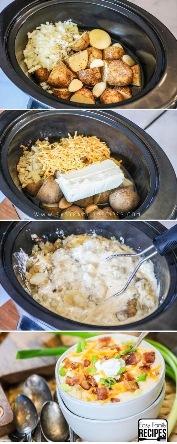 Crock Pot Loaded Baked Potato Soup