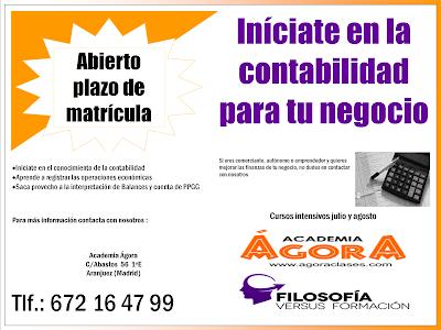 Curso de verano sobre Contabilidad en Aranjuez