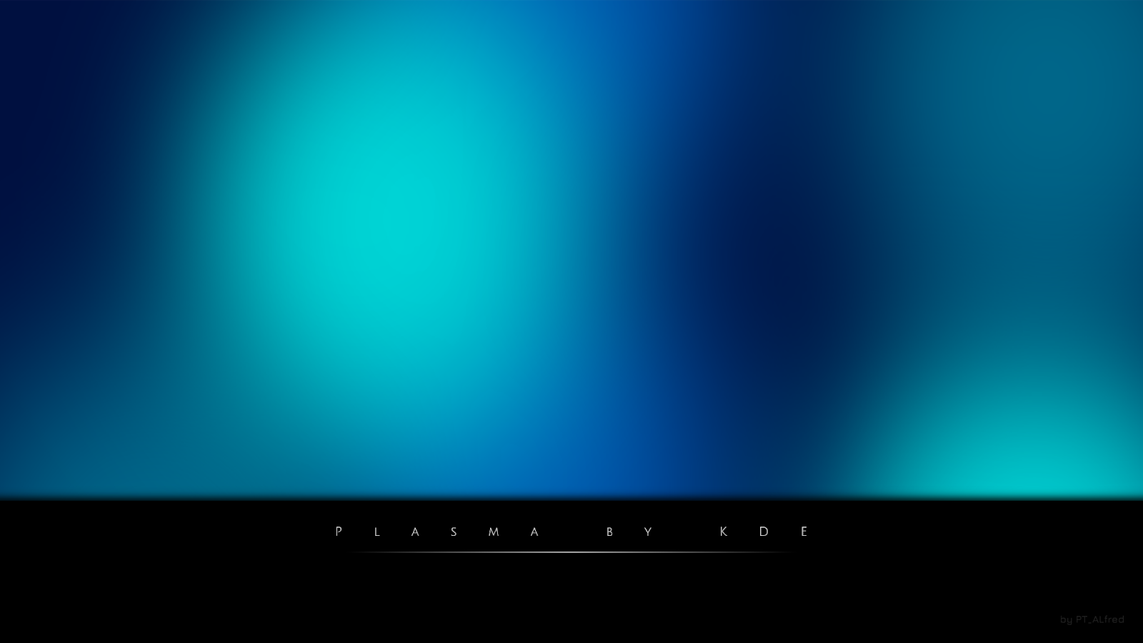 KDE Plasma In Blue Wallpaper
