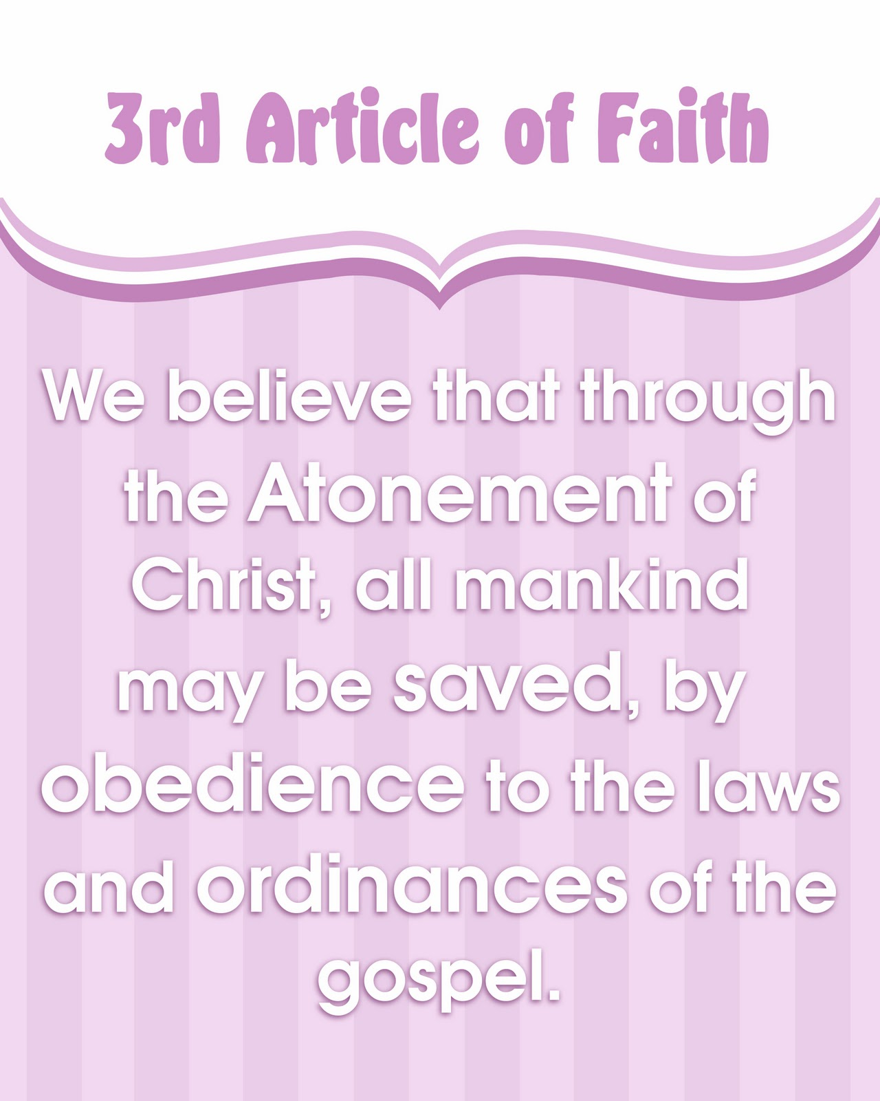 articles of faith What we believe: salvation statement in order to obtain true salvation there first must be a sense of trouble welfare, and that they are kept by the power of god through faith unto salvation article xii of the harmony of the law and the gospel.