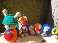 Amigurumi, juguete de bebés personalizado con nombre