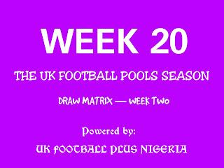 Football pools draws on coupon