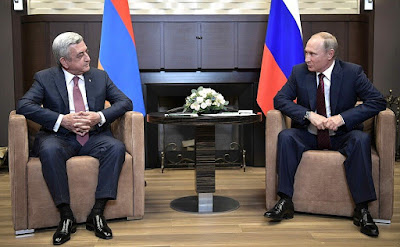 Meeting of the Russian President with President of Armenia Serzh Sargsyan in Sochi.