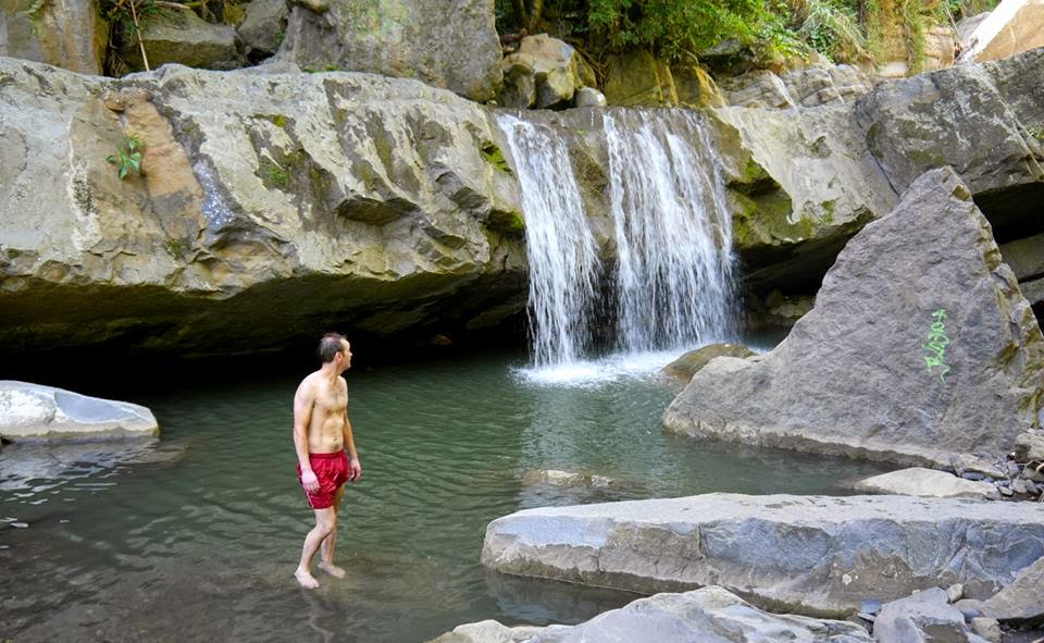 Refreshing: The 'Seven Waterfalls' ('Siete Cascadas'), Villeta, Cundinamarca, Colombia.