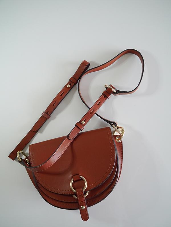 Tila March Gigi mini leather bag in brick