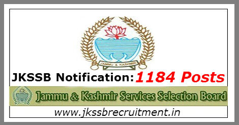 JKSSB Recruitment 2016