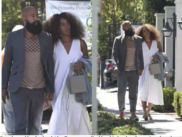 Solange Knowles and her husband Alan Ferguson are the picture of a cute couple as they take a stroll in Hollywood