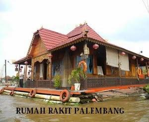 Rumah Rakit Rumah Adat Asal Palembang Sumatera Selatan