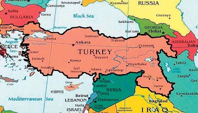 Πρόκληση από την Τουρκία: Η Άγκυρα δημοσίευσε χάρτη με την μισή Ελλάδα να είναι τουρκική