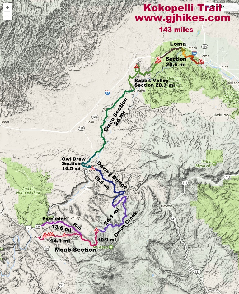 Rabbit Valley Trail Map