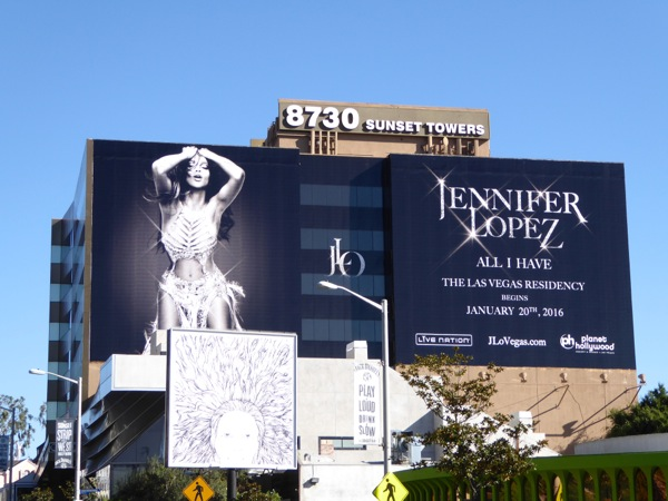 Jennifer Lopez All I Have Las Vegas residency billboard