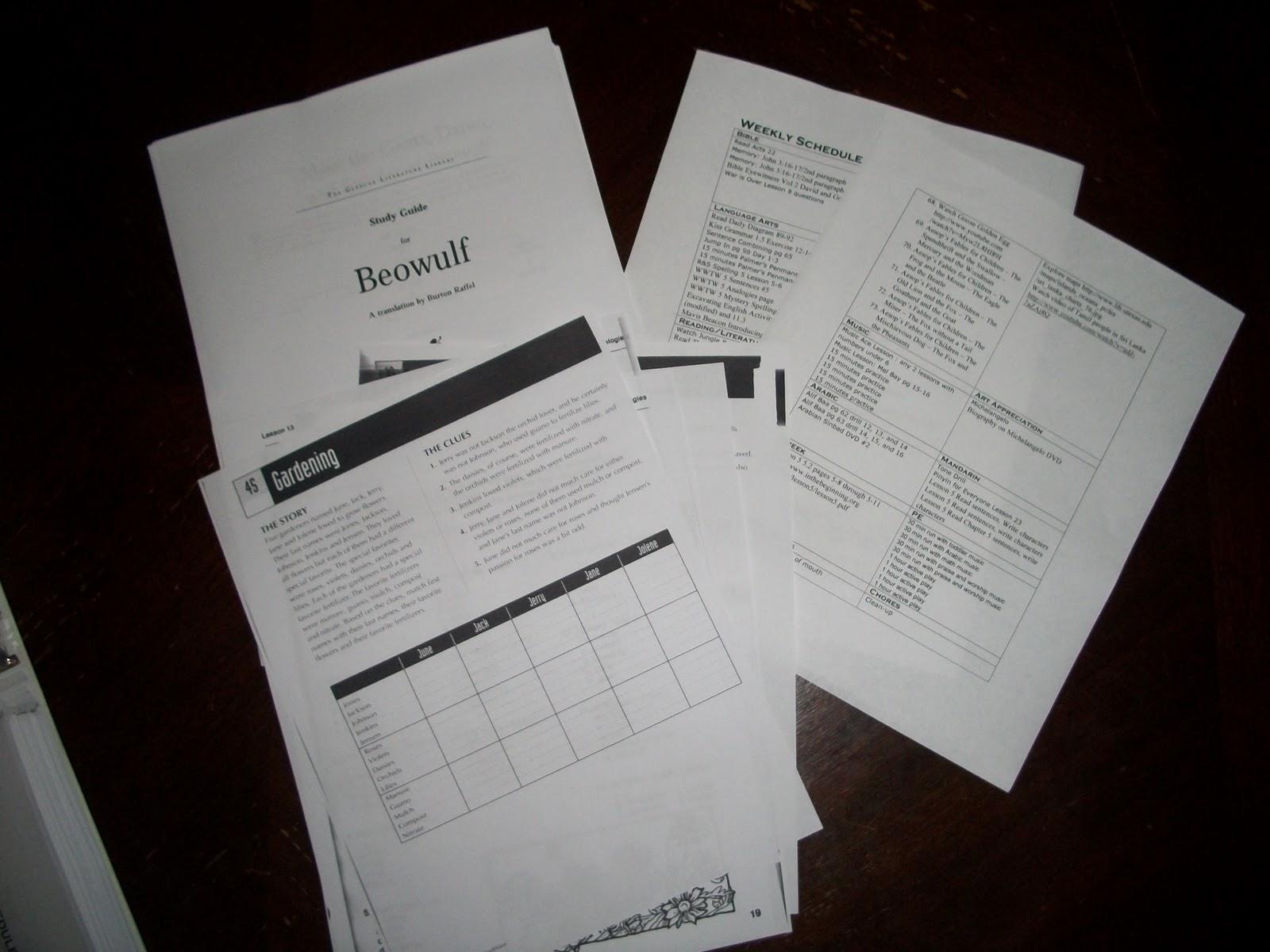 Homeschool Schedule Organization Eclectic Homeschooling