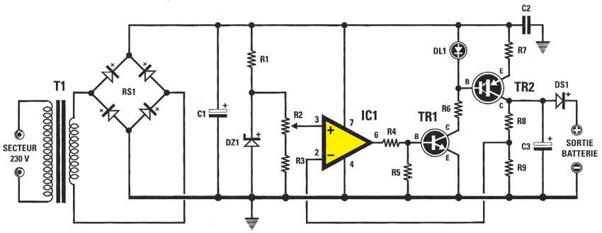 Un chargeur de batterie au cadmium nickel ~ Schema Electronique Net