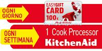 Logo Vinci buoni spesa da 100 euro e Cook Processor KitchenAid