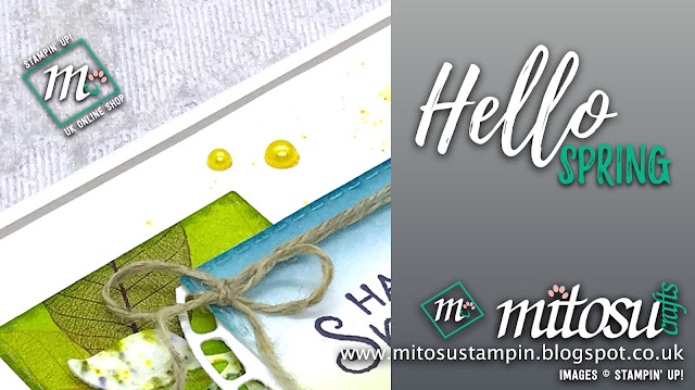 Hello Spring Stampin' Up! card idea. Order cardmaking supplies from Mitosu Crafts UK online shop 24/7