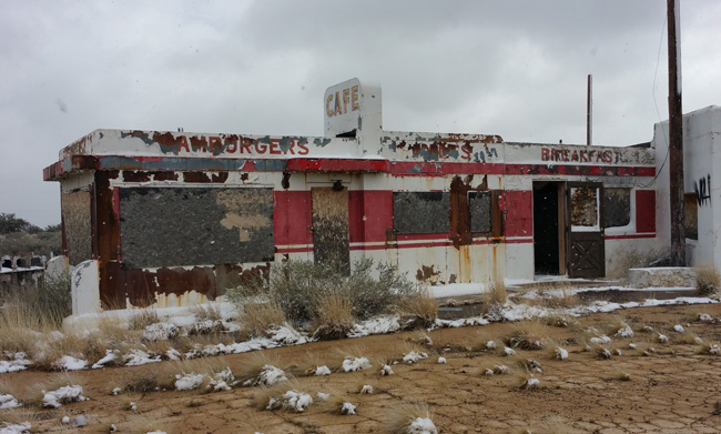 Twin Arrows Trading Post Abandoned in Arizona