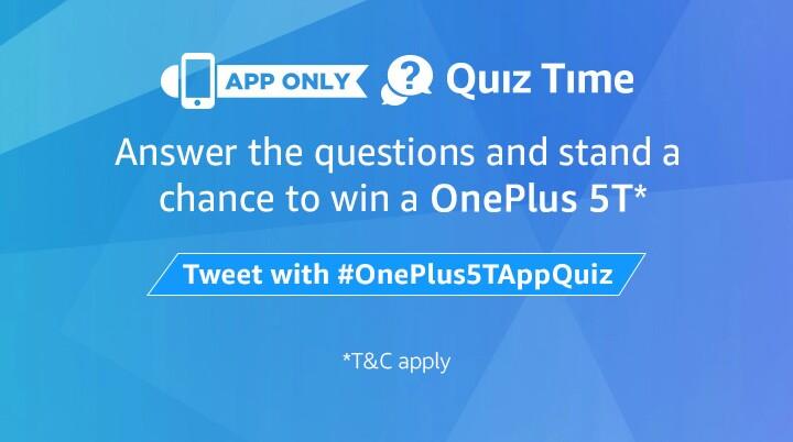 8th December ) Amazon OnePlus 5T Quiz All Answers - Tez Tricks - Tez ...