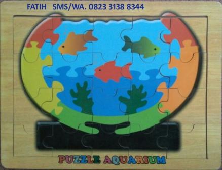 Mainan Puzzle Kayu Akuarium
