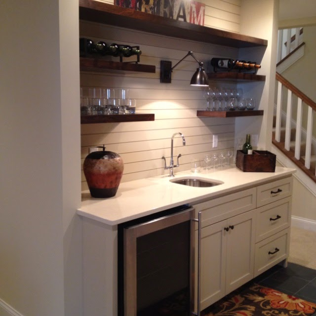 Changes to the basement kitchenette from thrifty decor chick for Kitchenette layout ideas