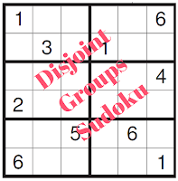 Disjoint Groups Sudoku Puzzles
