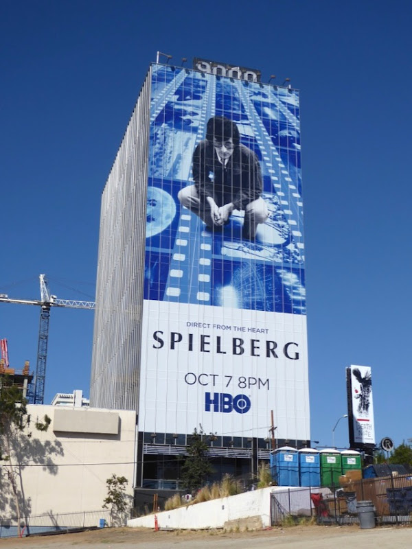 Giant Spielberg documentary billboard